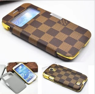 louis vuitton leather case for samsung galaxy s4 s view smart wake