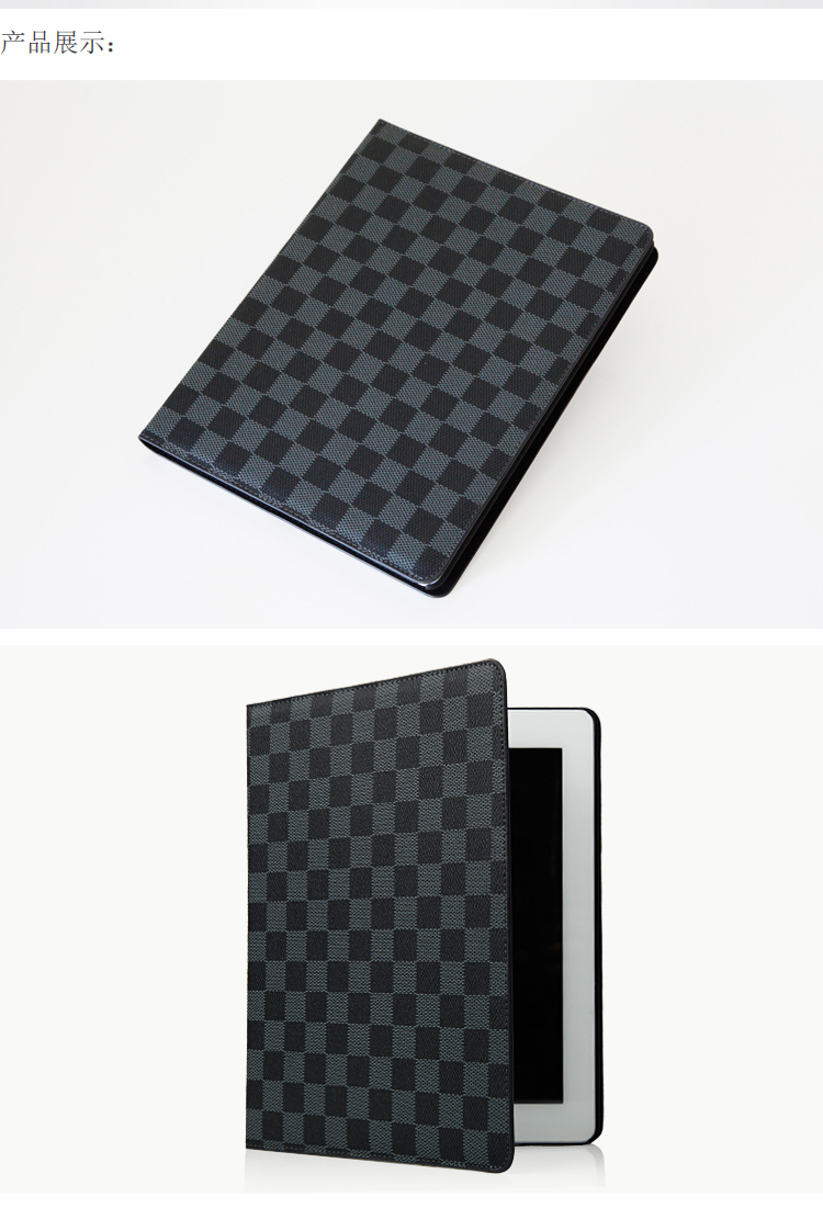 outlet store 752af cde39 Louis Vuitton LV Smart Leather Stand Case Cover For New iPad5 iPad ...