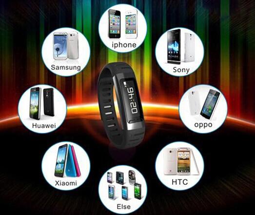 New Bluetooth 4.0 OLED Smart Bracelet Sport Healthy Watch ...