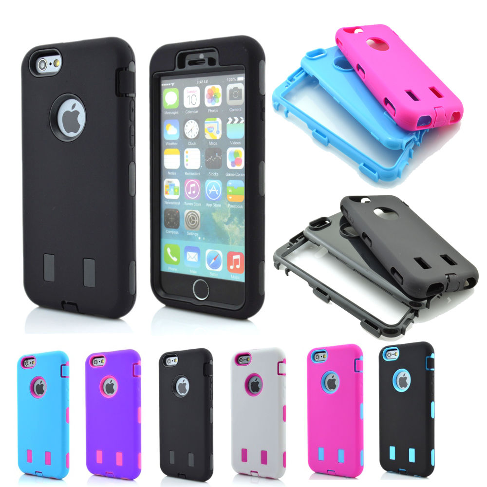 New Tire Heavy Duty Hybrid Rugged Rubber Hard Case Cover for iPhone 6 ...