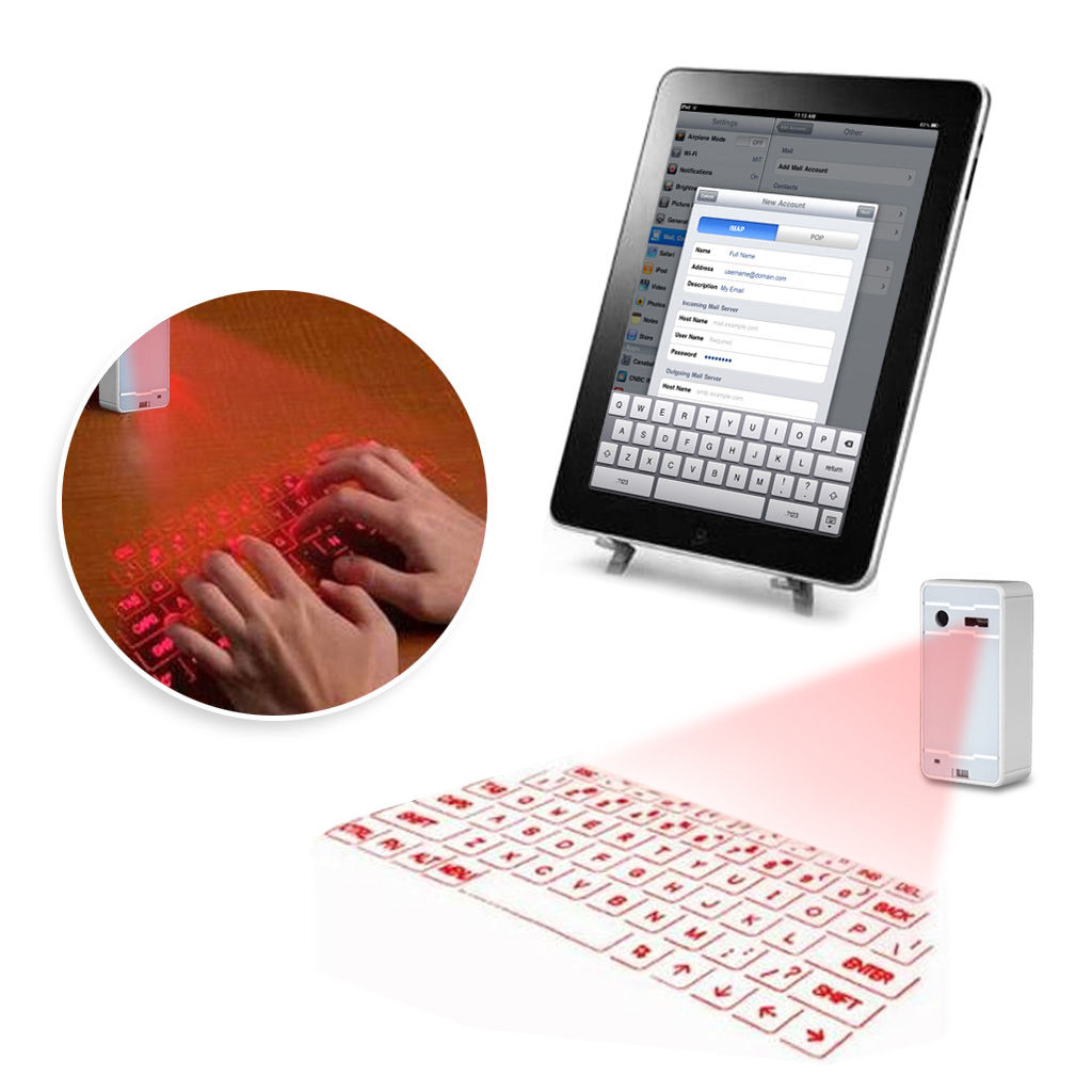iphone projection keyboard See more like this portable wireless bluetooth virtual laser projection keyboard mouse for iphone x from hong kong ultra-portable full-size virtual laser keyboard bluetooth for windows/mac os.