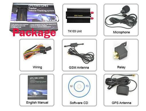 TK103A Car GPS Tracker System Mini GPS/SMS/GPRS Tracker Car Auto