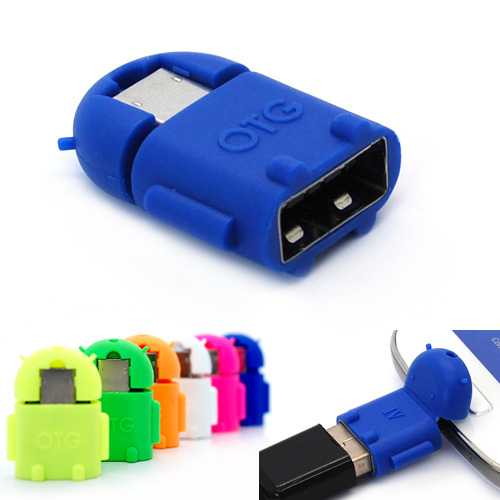 Android Universal Micro Usb To Usb 2 0 Robot Otg Adapter