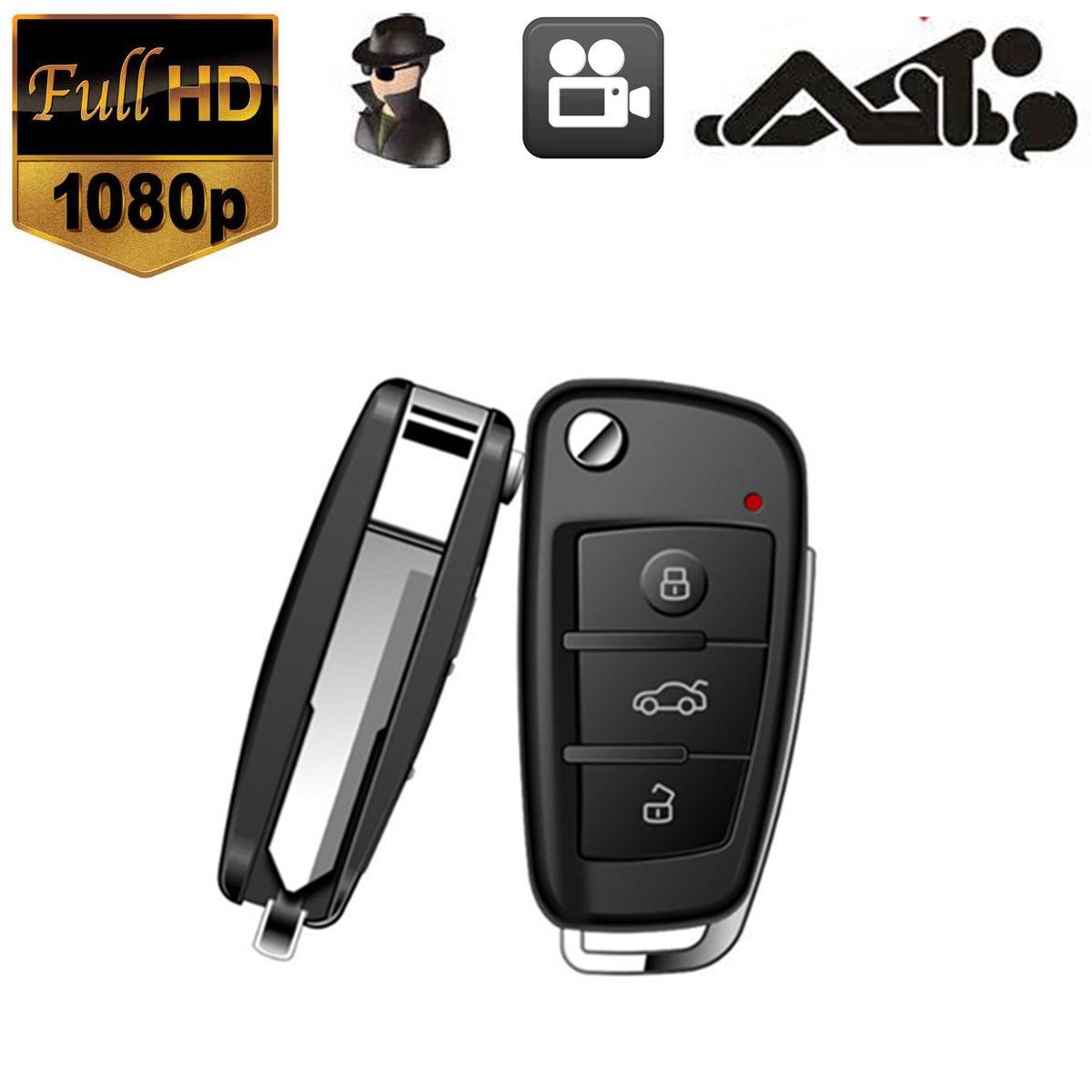 1080P HD Spy Car Key DVR Hidden Camera IR Night Vision video recorder Camcorder