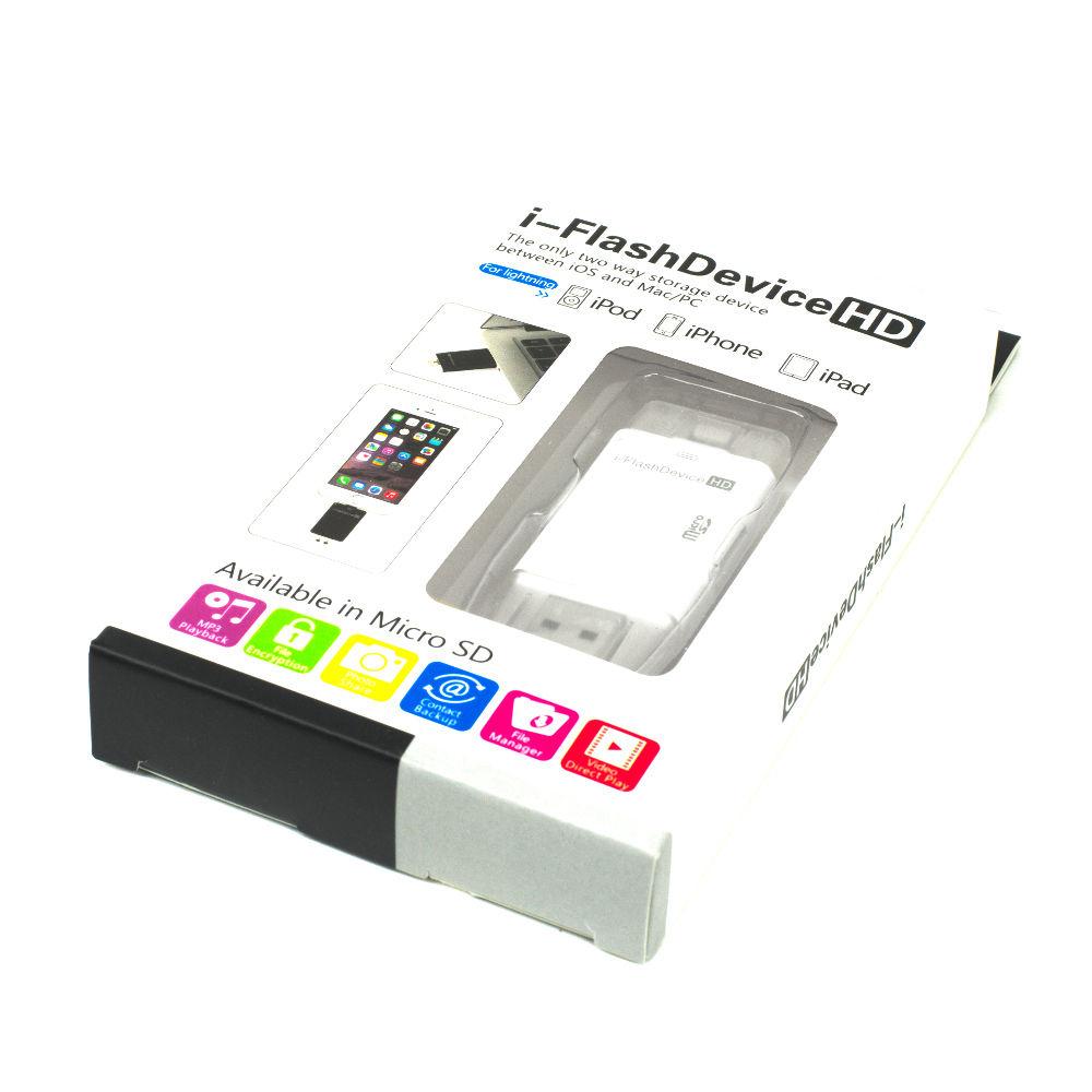 iflash otg usb lightning micro sdhc card reader drive for iphone 6 plus 6 5s 5c ipad4 5 ipod mac. Black Bedroom Furniture Sets. Home Design Ideas