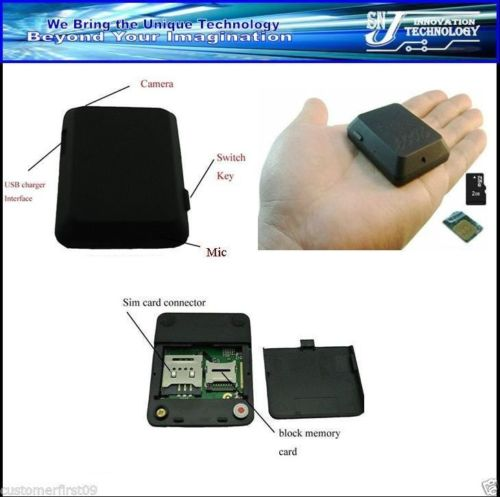 GSM Audio Bug with Camera Monitor Video Recorder SOS GPS  850//900//1800//1900MHz