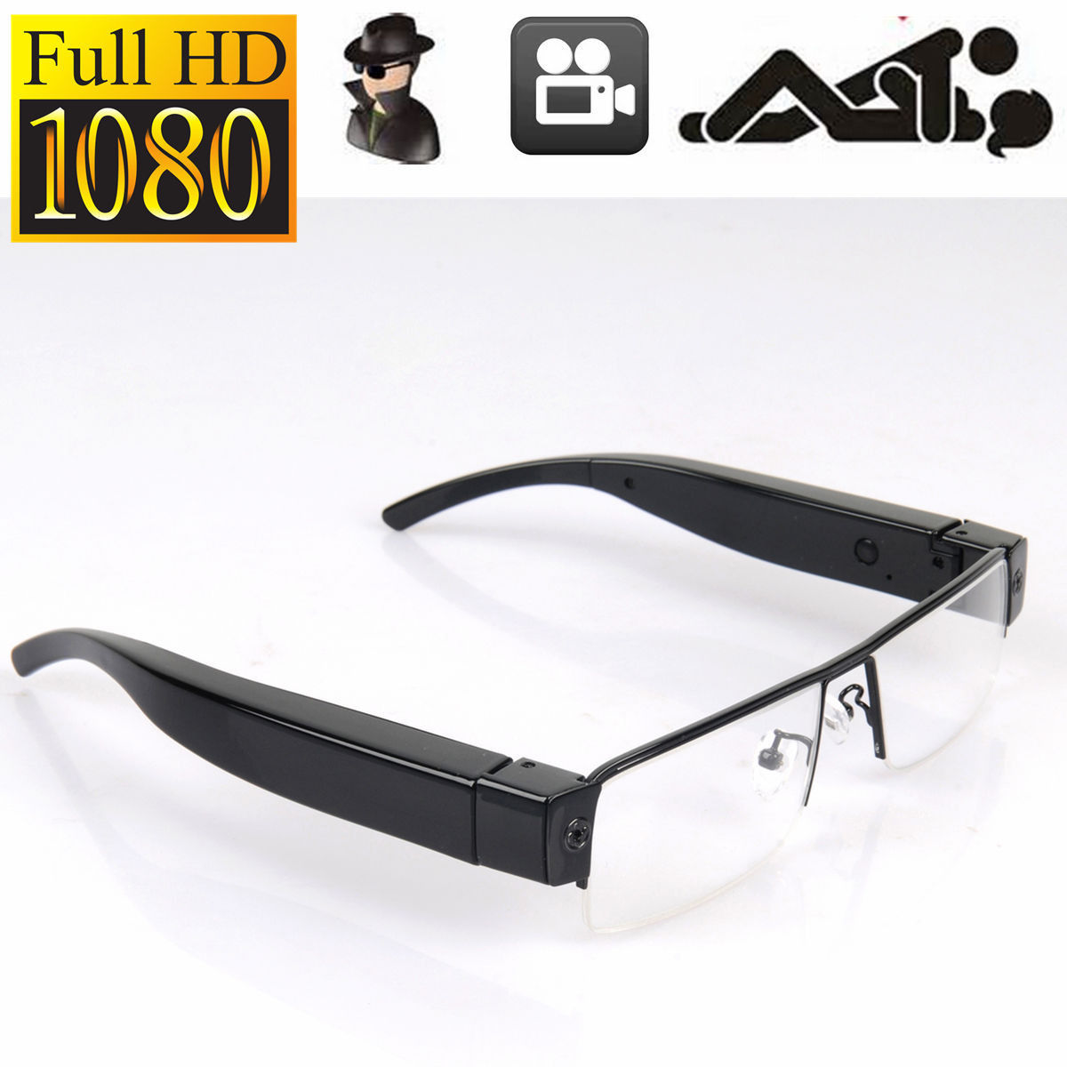 23a9f95947 Spy Glasses Full HD 1080P Spy Hidden Camera Security Eyewear Cam DVR Video  Recorder Mini Eyeware Sunglasses Camera