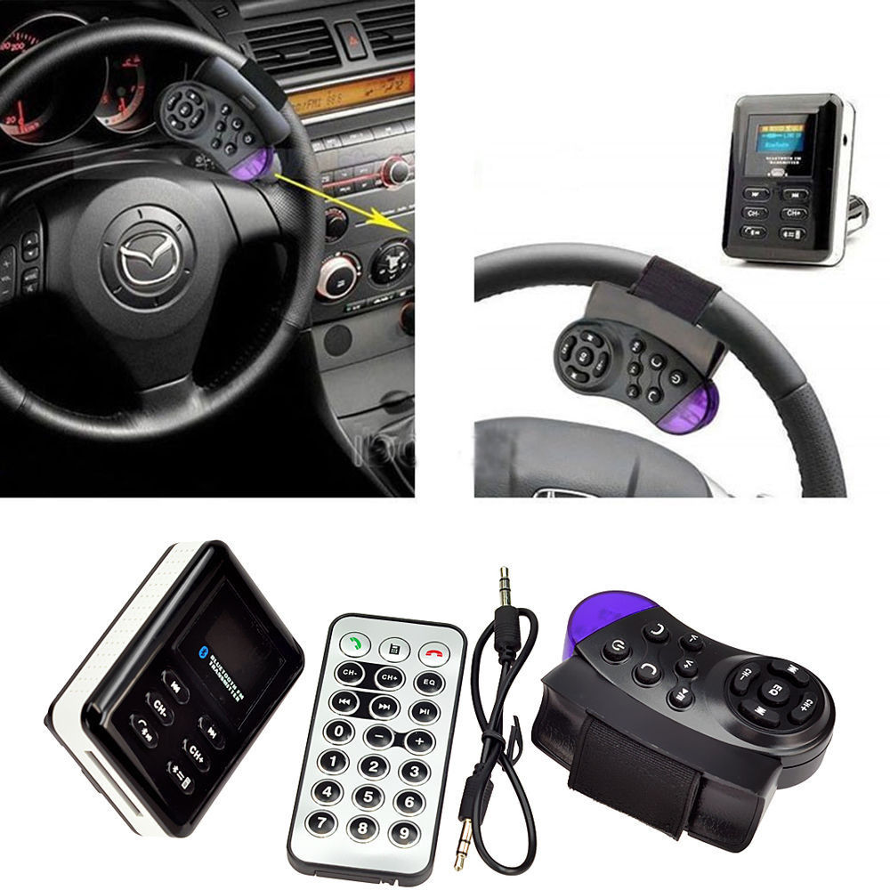 Car Kit Handsfree Wireless Bluetooth LCD MP3 Player USB Charger Adapter F1