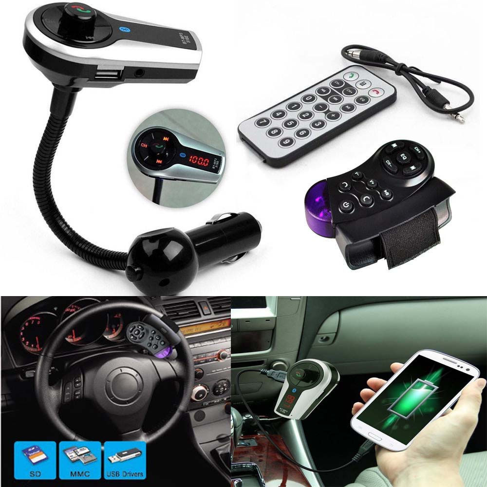 New Car Kit MP3 Player Wireless Bluetooth FM Transmitter Modulator USB SD LCD Remote Handsfree