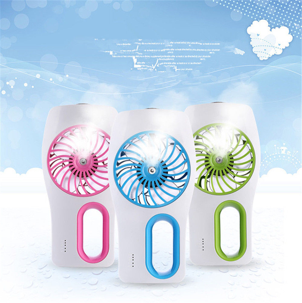Portable mini usb recharge humidifier mist water spray air portable mini usb recharge humidifier mist water spray air condictioning fan many colors aloadofball Gallery
