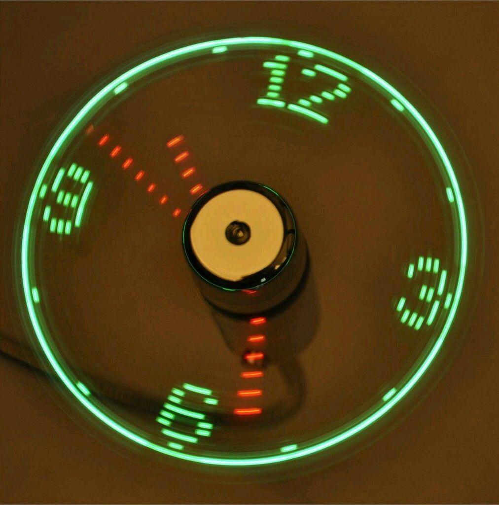 Usb Led Clock Fan Cool Office Gadget Desk Flexible