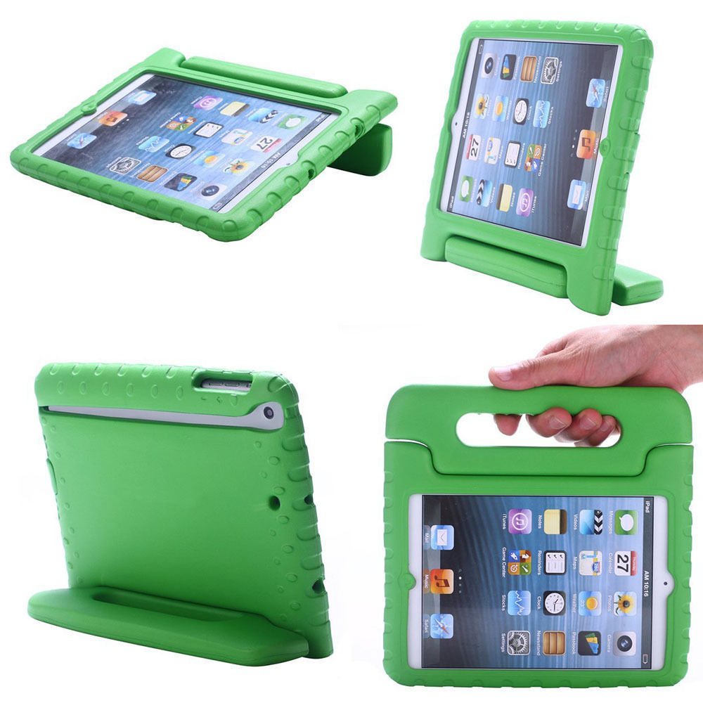 Kids Shock Proof Soft EVA Foam Case Handle Cover Stand for iPad 2/3/4/Mini/Air Many Colors--Spy ...