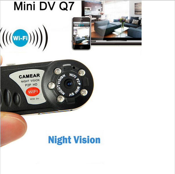 Mini DV WiFi Camera Q7 Wireless WIFI/P2P Network