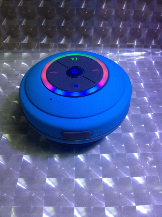 New sucker dustproof bathroom waterproof wireless - Bluetooth speaker bathroom light ...