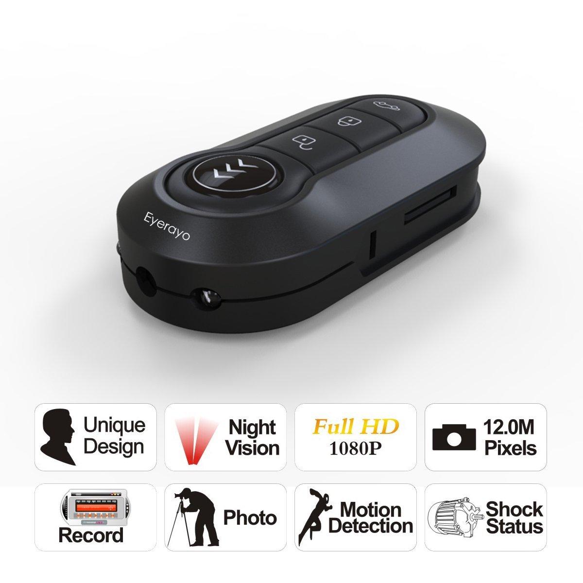 Mini Car Key Chain Dv Spion Spy Hidden Camera Camcorder Ir Night 1080p Vision Bug Cell Tv Video Audio Electronics Gadgets