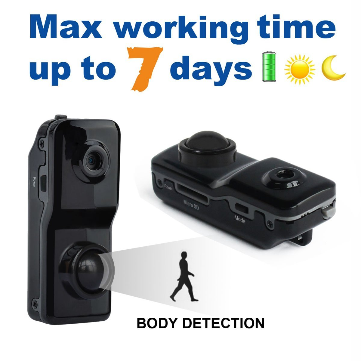 Mini Motion Detection Body Infrared Activated Pir Security