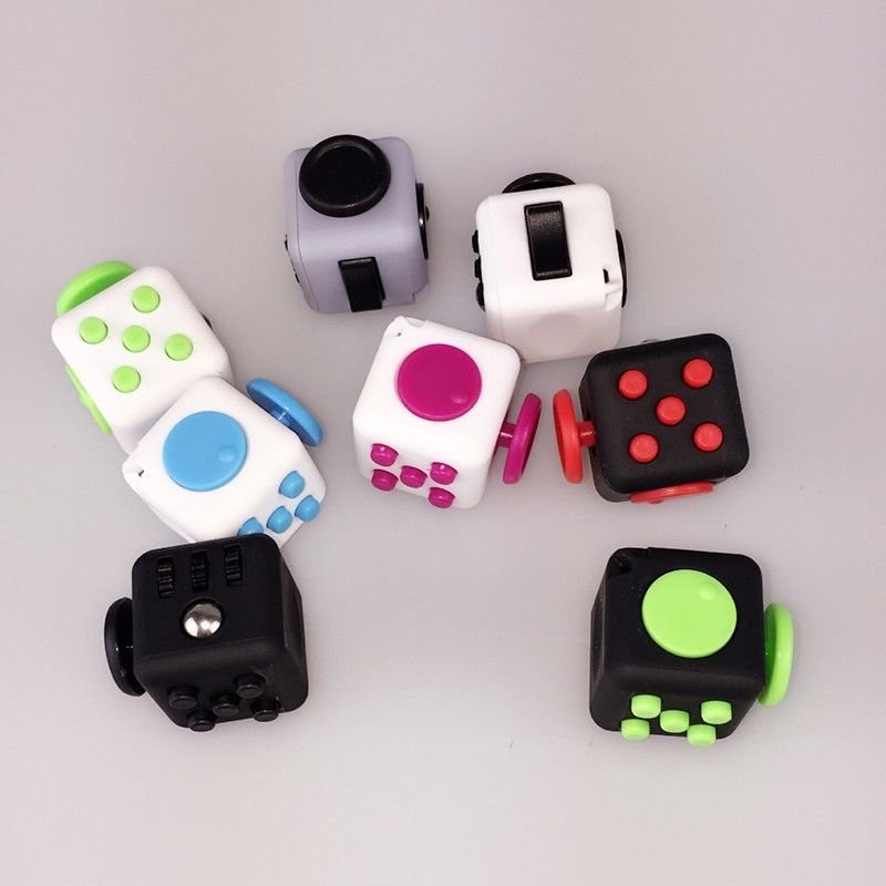 Toys For Adults Electronic Gadgets : Colors magic fidget cube anti anxiety adults stress