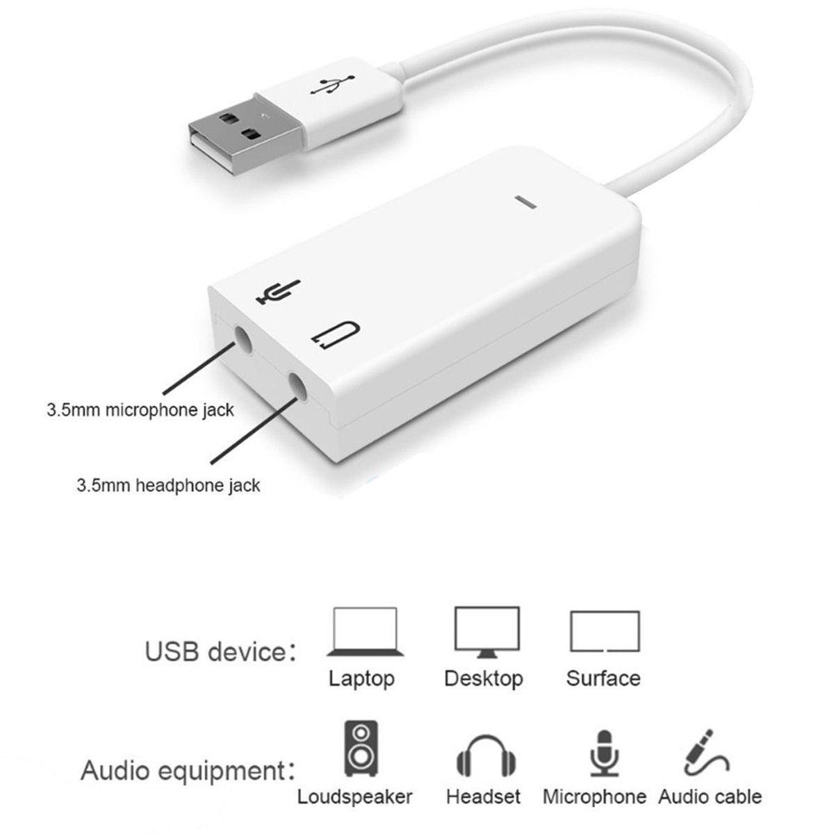 External Usb 20 3d Virtual 71 Channel Audio Sound Card Adapter For Description