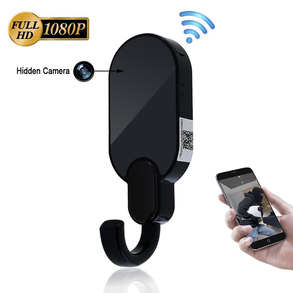 WIFI Camera Clothes Hook 1080P HD Indoor Motion Detection