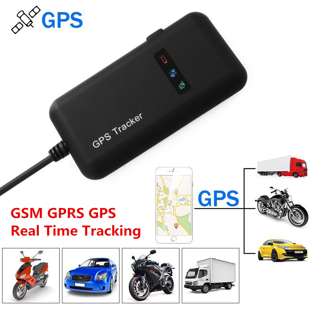 mini gsm gprs gps tracker vehicle bike car real time. Black Bedroom Furniture Sets. Home Design Ideas